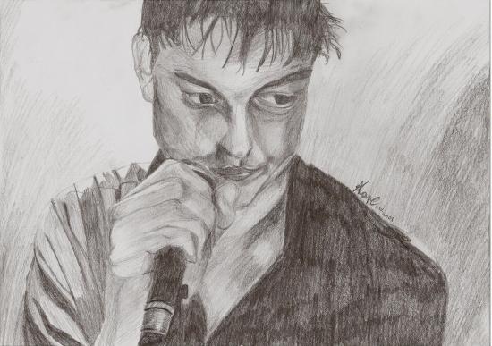 Ian Curtis por AsiulkA